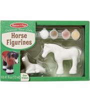 Melissa & Doug Decorate-Your-Own Figurines Kit-Horse, , hi-res