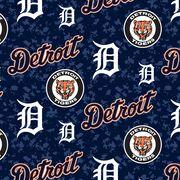 """Detroit Tigers Fleece Fabric 58""""-Digital, , hi-res"""