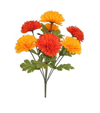 Blooming Autumn 15'' Ball Mum Bush-Orange
