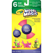 Crayola Model Magic Set 6/Pkg-Neon Colors, , hi-res