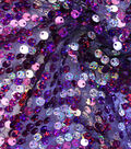 Performance Fabric-Flapper Purple & Silver Poly