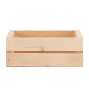 Woodline Works Unfinished Wooden Small CD Crate