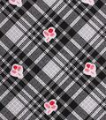 1930\u0027s Cotton Fabric 43\u0022-Cherry Plaid Black