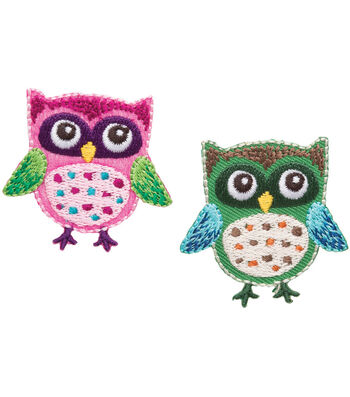 Simplicity® Iron-On Applique-2/Pkg-Owls