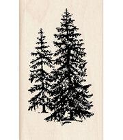 Inkadinkado Rubber Stamp-Pine Trees, , hi-res