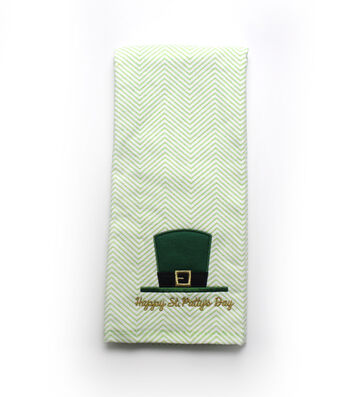 St. Patrick's Day Terry Hand Towel-Happy St. Patty's Day
