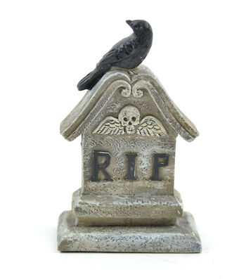 Maker's Halloween Littles 3'' Tombstone with Crow-RIP