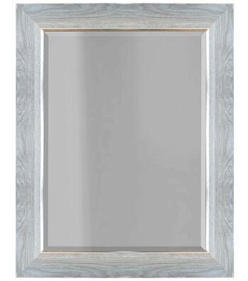 Wood Grain Molded Mirror 16''x20''-Distressed Gray