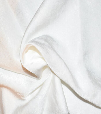 "Silky Sanded Satin Fabric 58""-White"