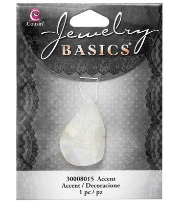 Cousin® Jewelry Basics Teardrop Pendant-White