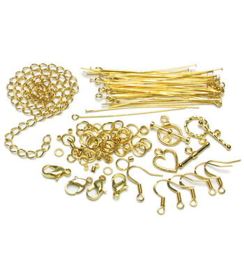 Jewelry Basics Starter Pack 145/Pk-Gold