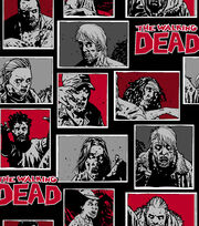 "Walking Dead Cotton Fabric 43""-Zombie Characters, , hi-res"