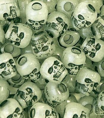 Skull Beads Glow In The Dark 250 Ct
