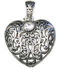Jewelry Basics Pendant Sets-Scroll Heart 1/Pk