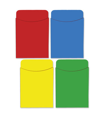 Busy Kids Learning Paper Pockets-Solid Colors