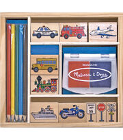 Melissa & Doug Vehicle Stamp Set, , hi-res