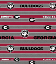 "University of Georgia Bulldogs Fleece Fabric 58""-Polo Stripe, , hi-res"