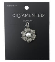 hildie & jo™ Ornamented Flower Petals Antique Silver Pendant, , hi-res