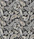 Buttercream Audrey Cotton Fabric-Ditsy Paisley Black
