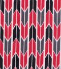 Blizzard Fleece Fabric 59\u0022-Arrow Geo Red Gray