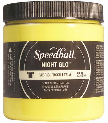 Night Glo Fabric Screen Printing Ink 8oz-Yellow