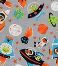 Snuggle Flannel Fabric 42\u0022-Space Adventure