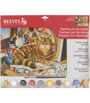 "Reeves Paint By Number Kit 12""X16""-Resting Cat, , hi-res"