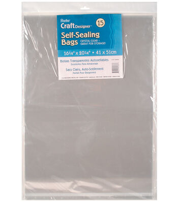 "Darice Self Sealing Bags 16.25""x20.25"""