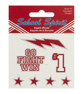 School Spirit Assorted Temporary Tattoos