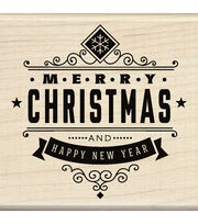 Inkadinkado® Mounted Rubber Stamp-Christmas Greetings, , hi-res