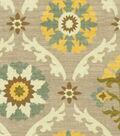Waverly Upholstery Fabric 54\u0022-Mayan Medallion/Pebble