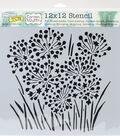 Crafter\u0027s Workshop Carmen Medlin Template 12\u0027\u0027x12\u0027\u0027-Onion Blossoms