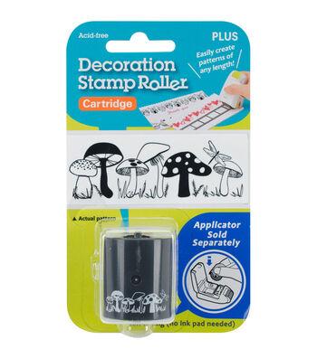 Decoration Stamp Roller Cartridge-Mushrooms