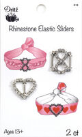 Heart & Infinity Sliders with clear rhinestones - 2 count