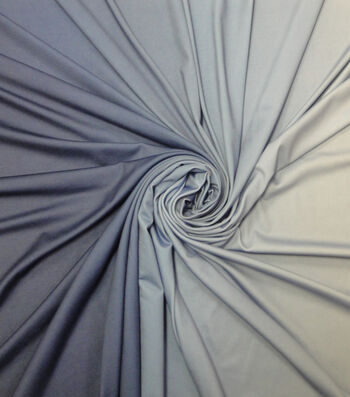 Yaya Han Cosplay Spandex Fabric 60''-Navy & Light Blue Ombre