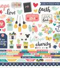 Faith Cardstock Stickers 12\u0022X12\u0022-Combo