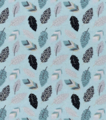 "Nursery Flannel Fabric 42""-Feathers"