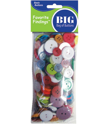 Favorite Findings Big Bag of Buttons-Multi