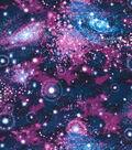 Novelty Cotton Fabric 44\u0022-Galaxy Purple Glitter