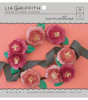 Lia Griffith Paper Flower Garden-Camellias, , hi-res
