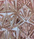 Casa Emblellish Sequin Fabric 54\u0022-Geo Triangle Rose Gold