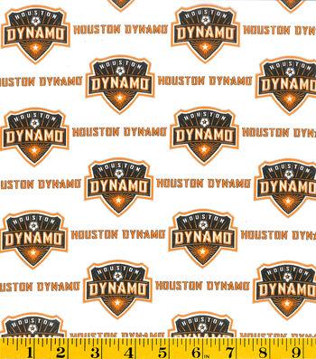 "Houston Dynamo Cotton Fabric 58""-Logo"
