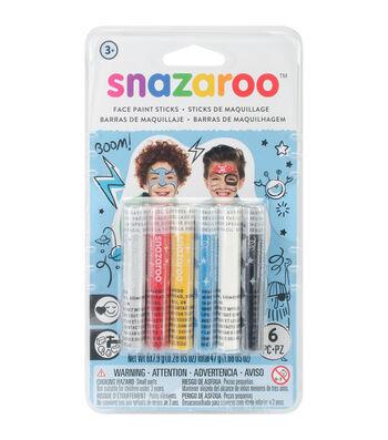 Snazaroo 6 Pack Face Painting Sticks-Boys