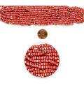 Blue Moon Strung Glass Seed Bead Hank,Red AB