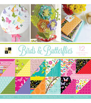 "DCWV 36 Pack 12""x12"" Premium Printed Cardstock Stack-Birds & Butterflies, , hi-res"