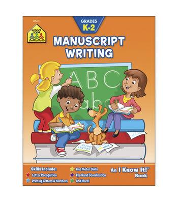School Zone Curriculum Workbooks-Manuscript Writing