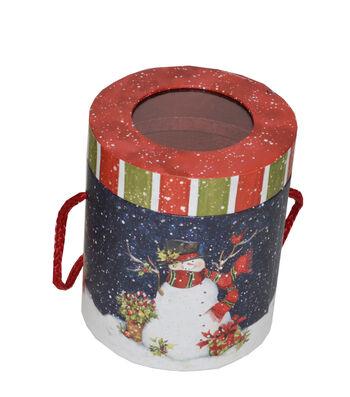 Maker's Holiday Cylinder Storage Holder-Snowman
