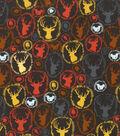 Novelty Cotton Fabric-Woodland Emblems Fall