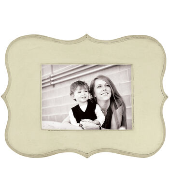 We R Memory Keepers Decorative Wooden Cream Frame 9''x12.5''x0.5''
