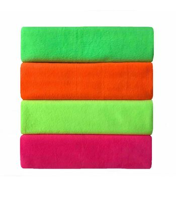 Anti Pill Fleece Fabric Neon Solids